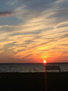 Photo of the Rhode Island sunset courtesy of Carlie Currier