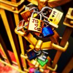 Love locks in Prague--long distance relationships