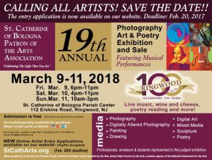 St. Catherine of Bologna 19th Annual Photography, Art and Poetry Exhibition Contest Submission Deadline @ St. Catherine of Bologna Church Patron of the Arts Association