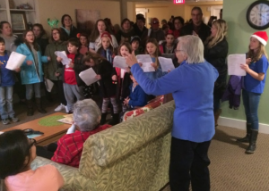 caroling Christmas cheer with NCYC and friends at St. Clare in Newport RI