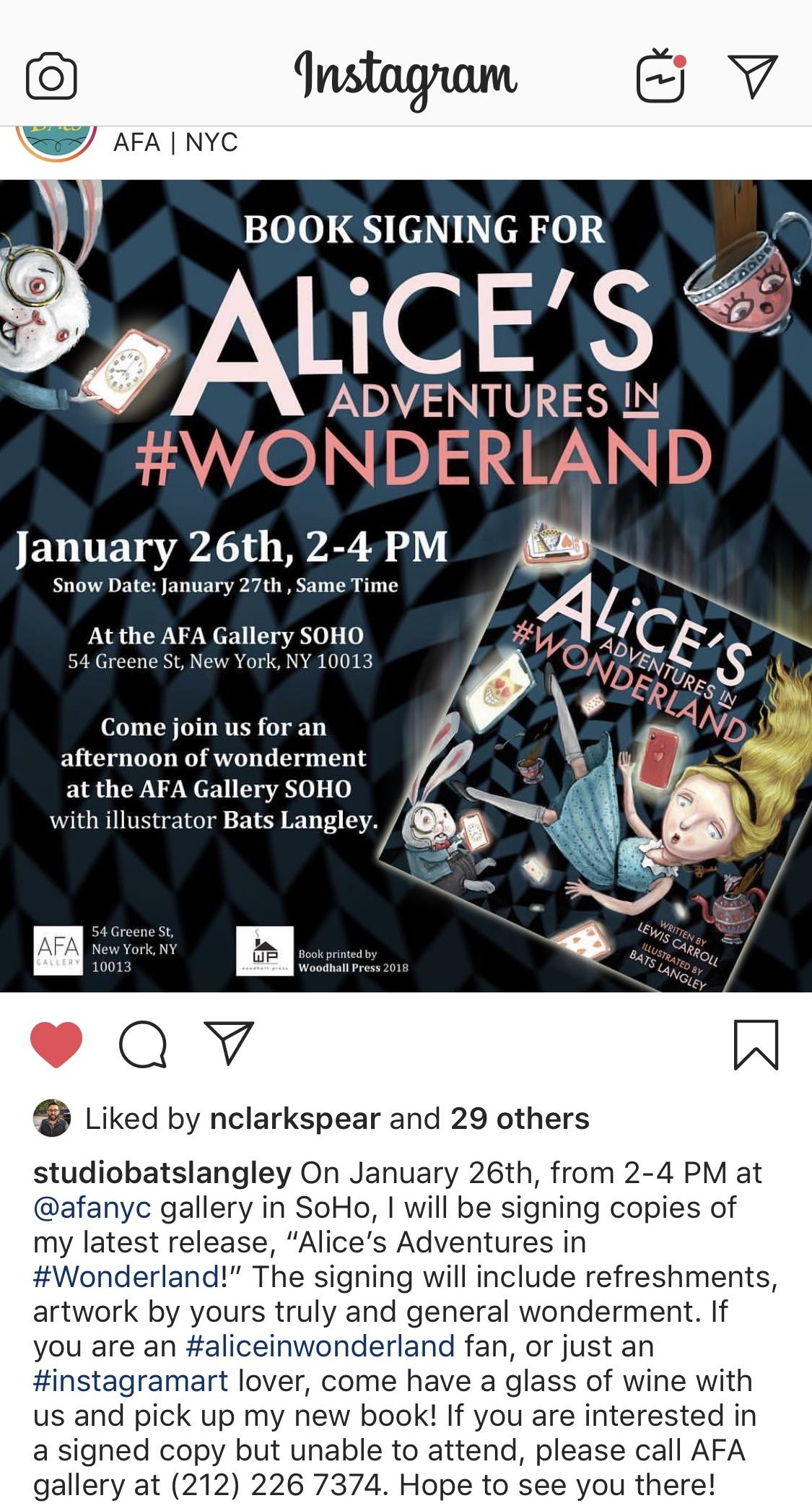 Book Signing for Alice's Adventures In #Wonderland - Mind KEY