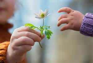 give a child a flower