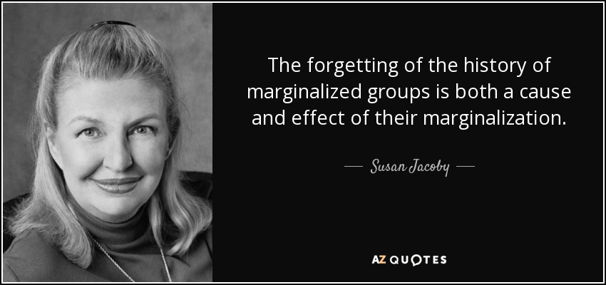 marginalized-- Susan Jacoby