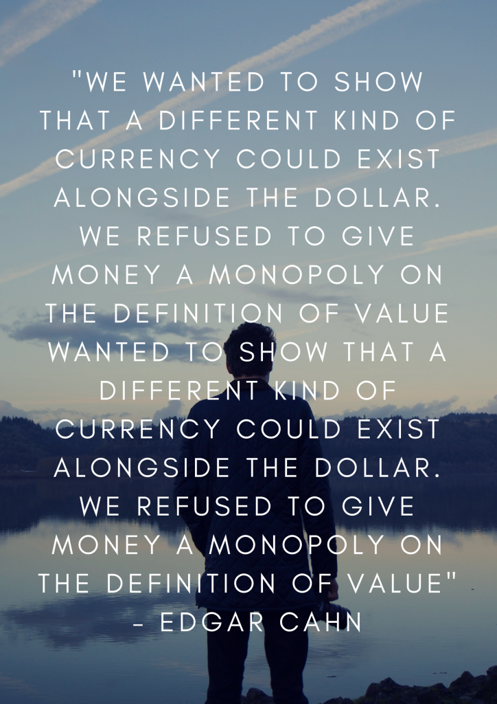 Time banking is a form of currency that gives value to the task, not the money involved